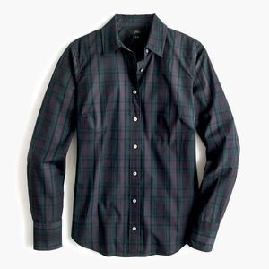 JCREW Blackwatch Plaid Slim Perfect Stretch Shirt